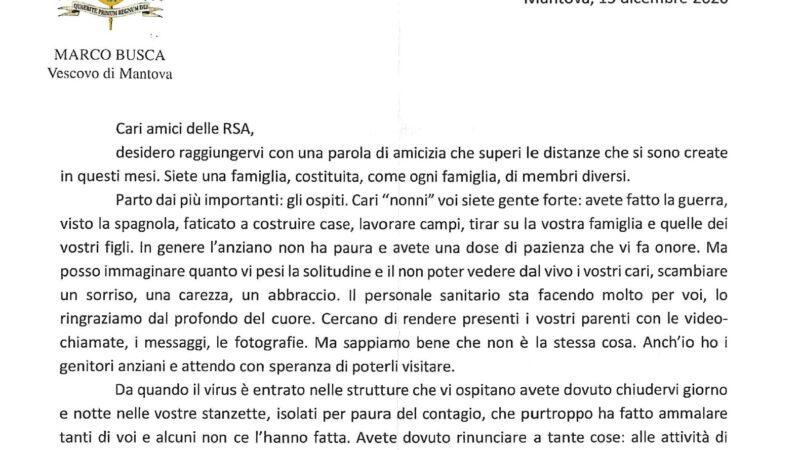 La lettera di vicinanza ad Ospiti ed Operatori delle RSA mantovane da parte di S.E. Marco Busca Vescovo di Mantova