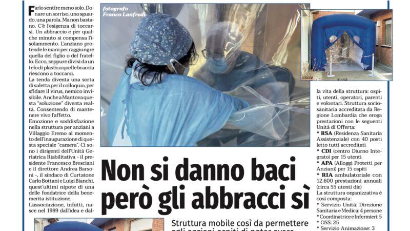 Ringraziamo il direttore Werther Gorni per l'interessante articolo uscito ieri a pagina 8 del settimanale La nuova Cronaca di Mantova.