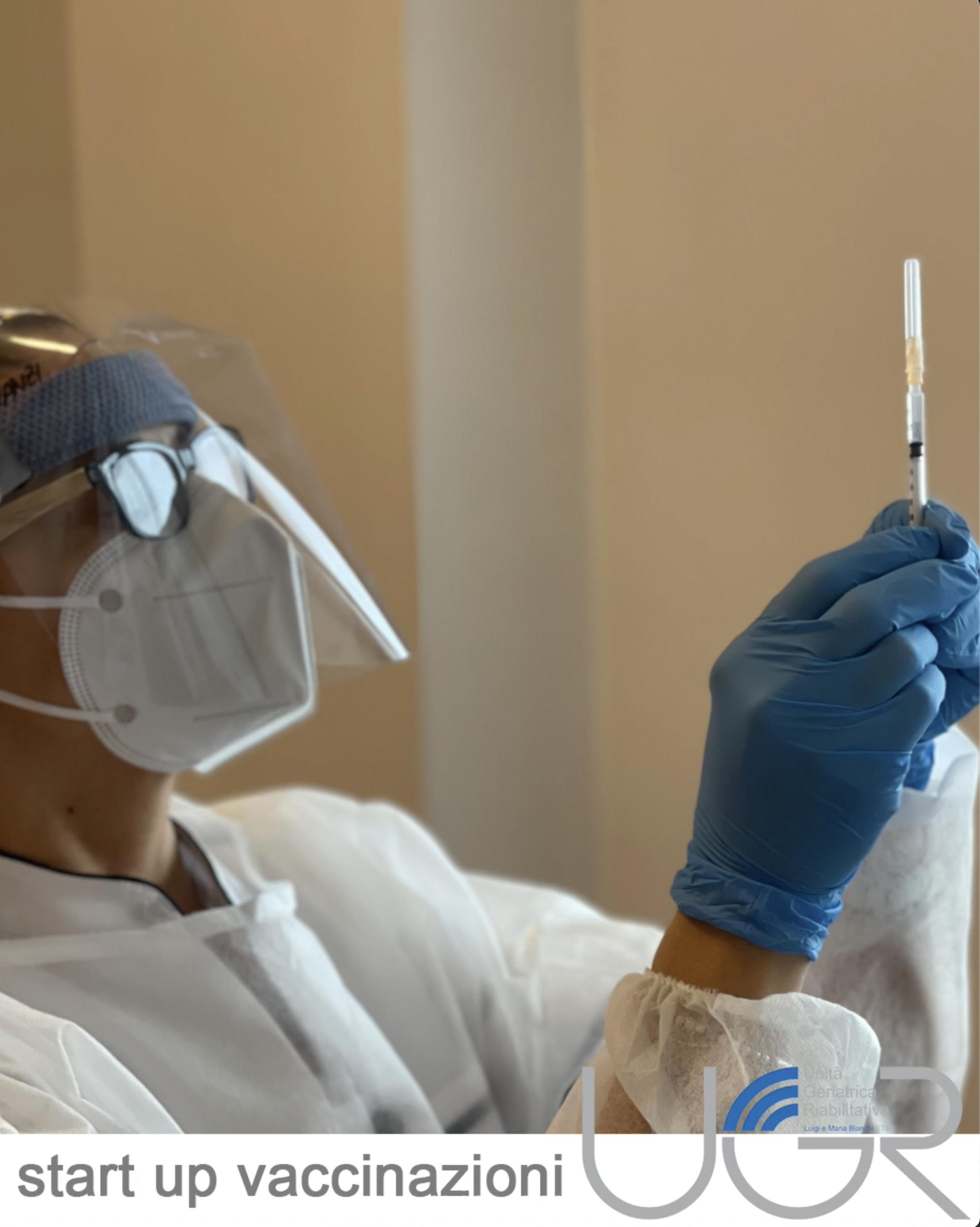 11 gennaio 2021, Start up vaccinazioni in UGR ETS
